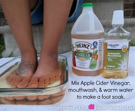 heinz vinegar acv mixed with mouthwash water makes an