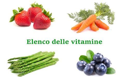 elenco vitamine alimenti elenco vitamine funzioni principali e fonti alimentari