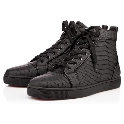 black louboutin sneakers christian louboutin louis flat python rubber sneakers