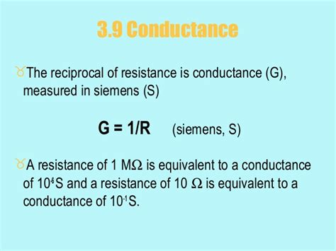 what is the conductance of a 100 ohm resistor what is the value of conductance in siemens for a 100 ohm resistor 28 images chapter 3