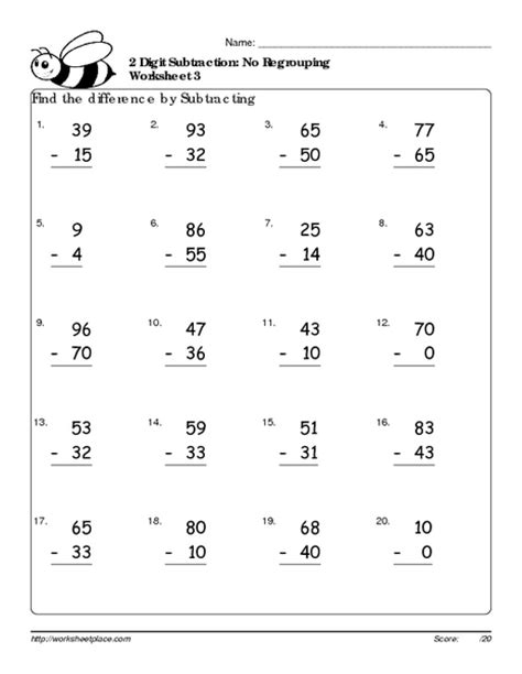 digit subtraction with regrouping worksheets subtraction 187 3 digit subtraction without regrouping worksheets 2nd grade free math worksheets
