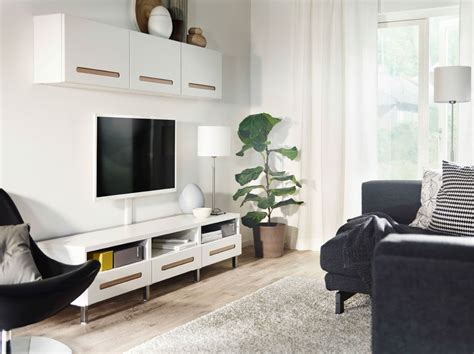 besta living room storage a black and white living room with best 197 media storage in