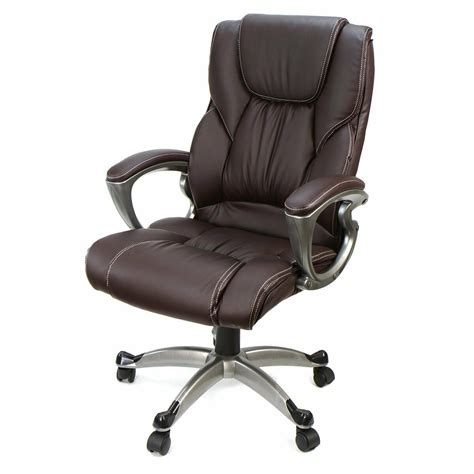 Chair For High Desk by Brown Pu Leather High Back Office Chair Executive Task
