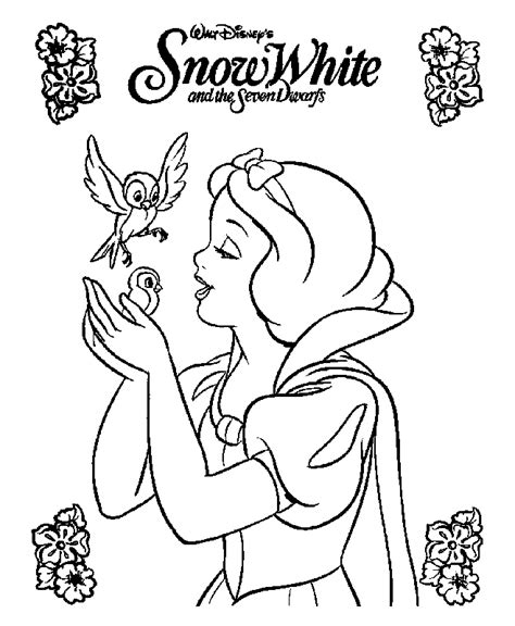 snow white coloring pages learn to coloring