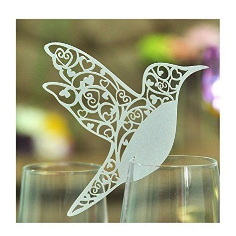 Butterfly Wine Glass Place Card Template by Jypc Pack Of 50 Laser Cut Hummingbird Name Place Cards For