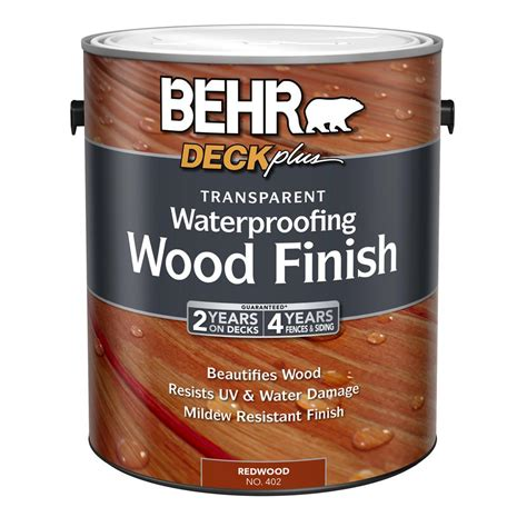 behr  gal deck  redwood transparent waterproofing