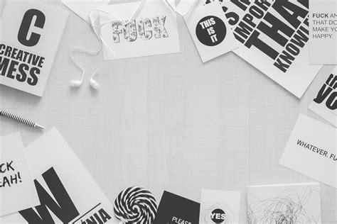 black white desk minimal header image copy space 183 free stock photo
