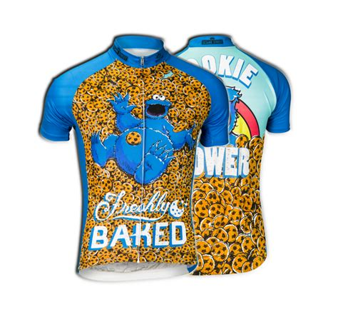 monster jersey cookie monster freshly baked mens cycling jersey