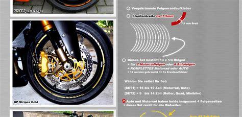 Felgenaufkleber Erstellen by Design Gp Felgen Aufkleber Motorrad Felgenrandaufkleber
