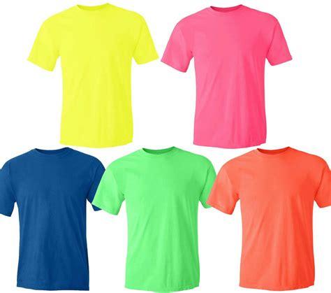 neon color shirts gildan neon heavy cotton t shirt fluorescent colors safety