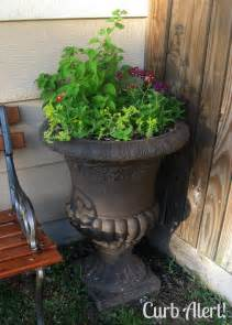 curb alert outdoor cement planter cement urn