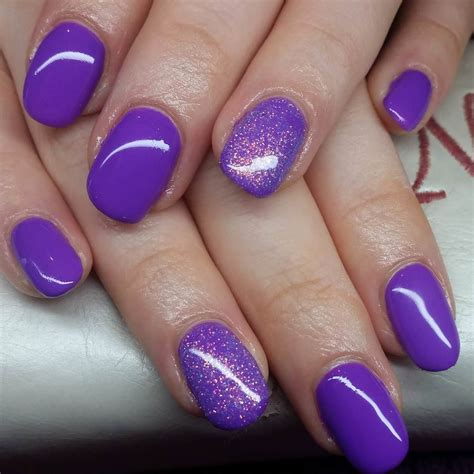 Nail Photos by Light Purple Nails With Glitter Www Pixshark