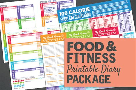 printable crossfit journal printable food fitness diary journal by powersnowdesigns