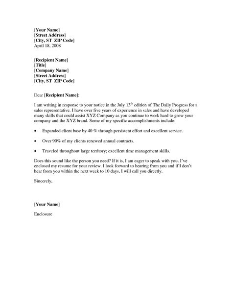 Resume Cover Letter Outline Basic Cover Letter Resume