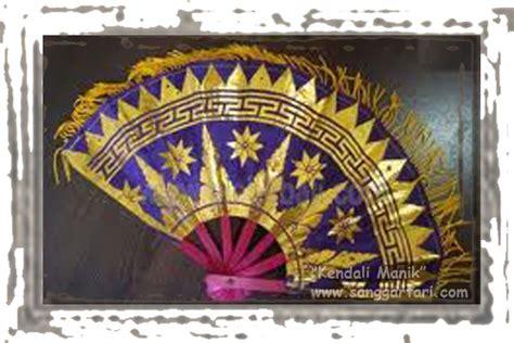 Kipas Bulu properti tari sanggar tari tradisional quot kendali manik