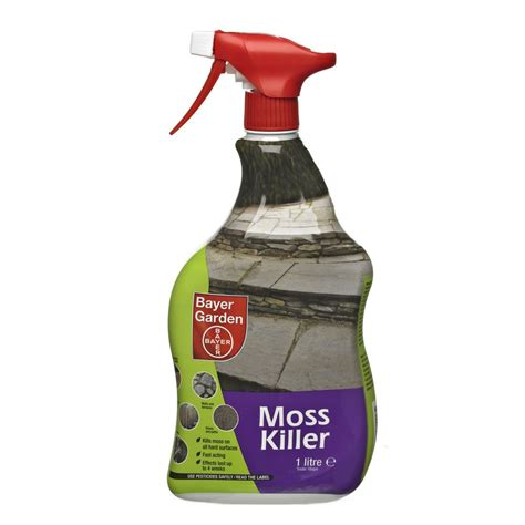 bayer garden bayer moss killer spray 1l weedkillers