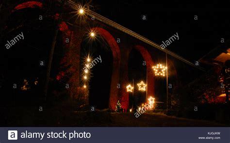 ravenna christmas lights tree lights snow forest stock photos tree lights snow forest stock images