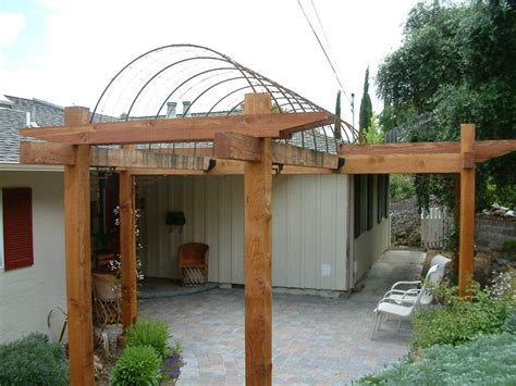 Trellis Patio by Wood Trellis And Rebar Arches 996 215 746 Home Garden