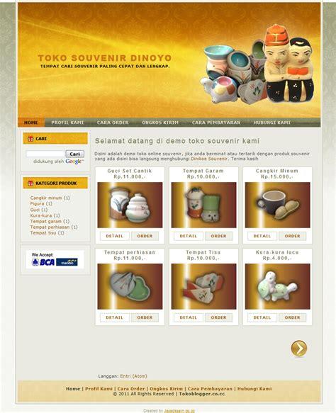 template blog toko online rupiah template toko online