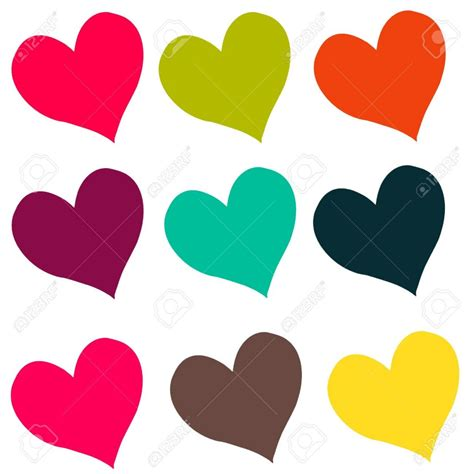 de colores lujo corazones dibujos a color