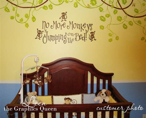 no more monkeys jumping in the bed no more monkeys jumping on the bed wall decal wall decals
