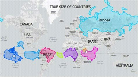 true sizes of countries