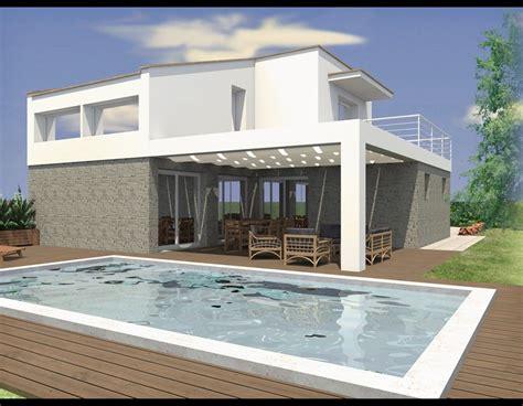 Architettura Moderna Ville by Progetto Villa Unifamiliare Diego Trevelin