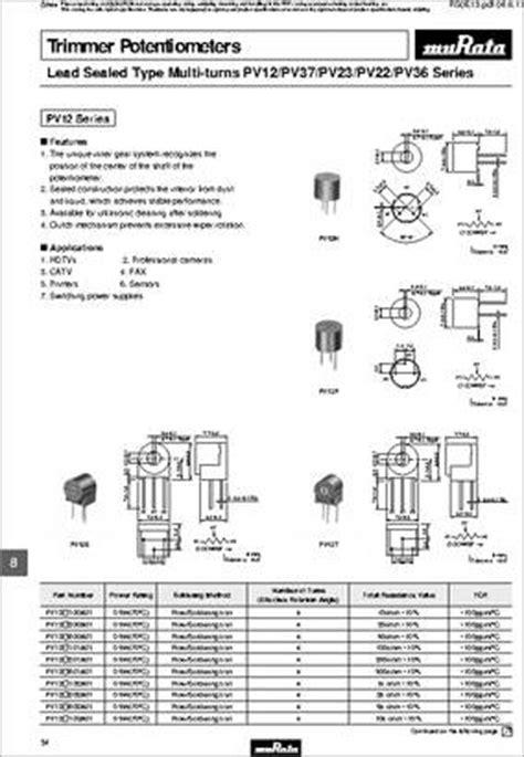 5k ohm resistor datasheet datasheet pv36p502c01b00 datasheet specifications resistance ohms 5k power watts