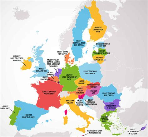 Cheapest State To Live by Four Maps Show 50 States And European Countries Best And