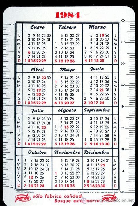 Calendario De 1985 Calendario 1984 1985 Anunciando A La Empresa P Comprar