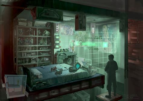 cyberpunk otaku place bedroom by dsorokin755 on deviantart