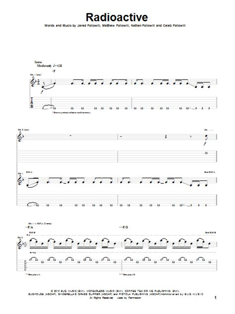 tutorial guitar radioactive radioactive by kings of leon guitar tab guitar instructor