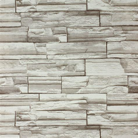 Discount Online Home Decor 10meters3d block stone slate brick wall paper claasic