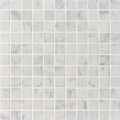 Carrara Marble Floor Tile White Carrara C Honed 1x1 Marble Mosaics 12x12 Marble System Inc