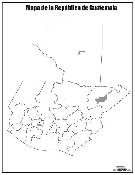 da clic para ver en grande e imprimir mapa de guatemala sin nombres para imprimir