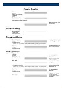 Fill In Resume Templates 5 Free Resume Maker Templates Incident Report Template