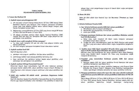 format buku saku buku saku un ujian nasional 2016 unduh dokumen
