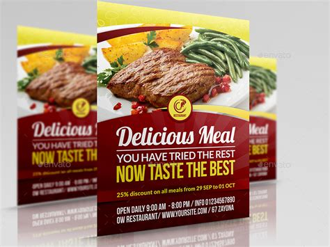 Restaurant Advertisement Template restaurant advertising bundle template vol 10 by