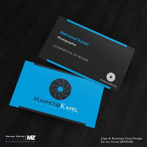 business card template with logo photographer business card and logo design by marwanzahran
