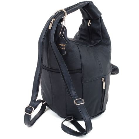 womens leather backpack purse sling shoulder bag handbag 3 in 1 convertible new ebay