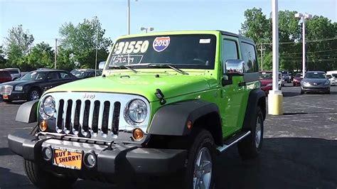 Gecko Green Jeep Wrangler For Sale 2013 Jeep Wrangler Sport Suv Gecko Pearlcoat Green For