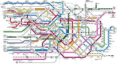 maps tokyo japan rail map tokyo