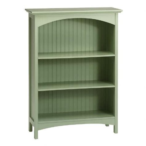 green beadboard 3 shelf bookcase tree shops