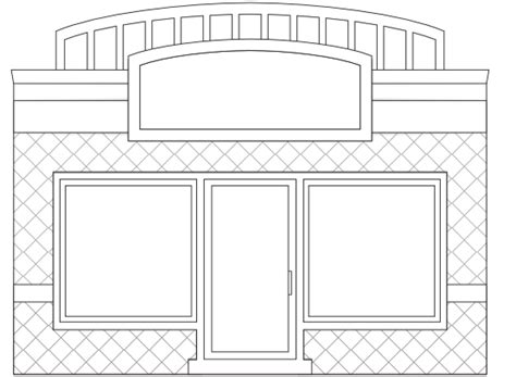 storefront templates store black and white clipart clipart kid