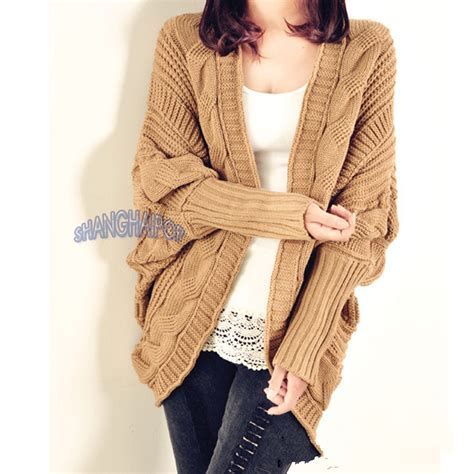 chunky knit cardigan sweater cable knit cardigan chunky open cape batwing