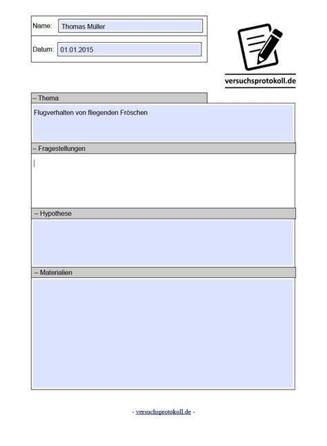 Protokoll Schreiben Muster Chemie Versuchsprotokoll Schreiben Versuchsprotokoll Vorlage