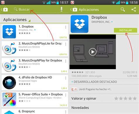 guardar imagenes google android subir y guardar fotos en la nube con android y dropbox