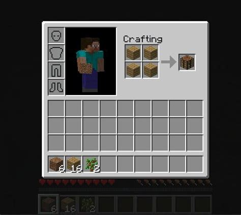Minecraft Craft Table by How To Make A Crafts Table In Minecraft