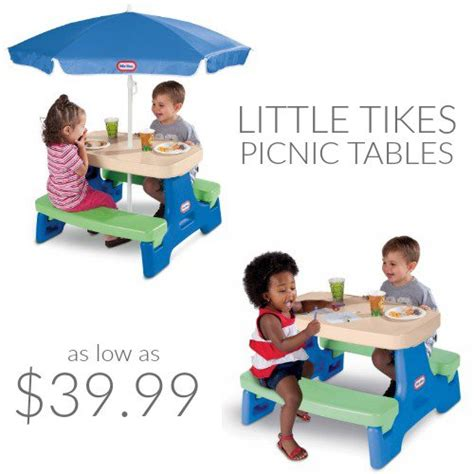 tikes picnic table set tikes picnic tables fabulessly frugal