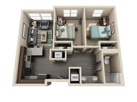 apartment 2 bedroom room types uk housing